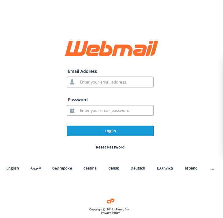 Enter your full email address and email password in the sign-in window.